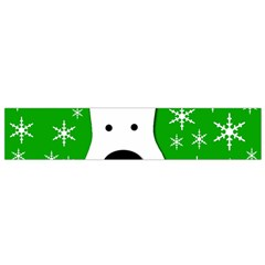 Christmas reindeer - green Flano Scarf (Small)