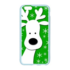 Christmas reindeer - green Apple Seamless iPhone 6/6S Case (Color)