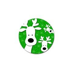 Christmas reindeer - green 2 Golf Ball Marker (4 pack)