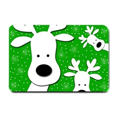 Christmas reindeer - green 2 Small Doormat