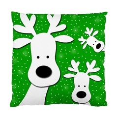 Christmas reindeer - green 2 Standard Cushion Case (Two Sides)