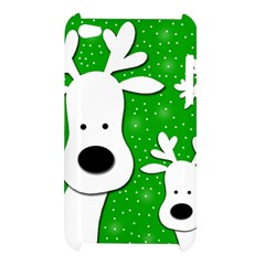 Christmas reindeer - green 2 Apple iPod Touch 4