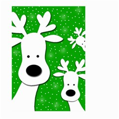 Christmas reindeer - green 2 Large Garden Flag (Two Sides)