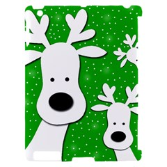 Christmas reindeer - green 2 Apple iPad 2 Hardshell Case (Compatible with Smart Cover)