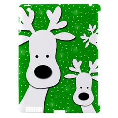 Christmas reindeer - green 2 Apple iPad 3/4 Hardshell Case (Compatible with Smart Cover)