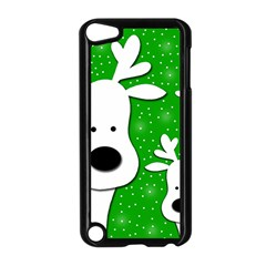 Christmas reindeer - green 2 Apple iPod Touch 5 Case (Black)