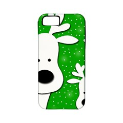 Christmas reindeer - green 2 Apple iPhone 5 Classic Hardshell Case (PC+Silicone)