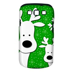 Christmas reindeer - green 2 Samsung Galaxy S III Classic Hardshell Case (PC+Silicone)