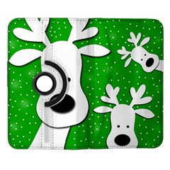 Christmas reindeer - green 2 Samsung Galaxy Note II Flip 360 Case