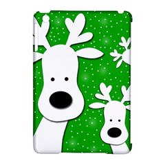 Christmas reindeer - green 2 Apple iPad Mini Hardshell Case (Compatible with Smart Cover)