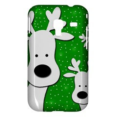 Christmas reindeer - green 2 Samsung Galaxy Ace Plus S7500 Hardshell Case