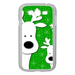 Christmas reindeer - green 2 Samsung Galaxy Grand DUOS I9082 Case (White)