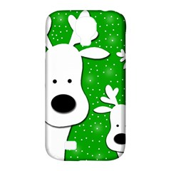 Christmas reindeer - green 2 Samsung Galaxy S4 Classic Hardshell Case (PC+Silicone)