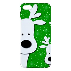 Christmas reindeer - green 2 iPhone 5S/ SE Premium Hardshell Case