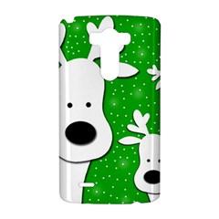 Christmas reindeer - green 2 LG G3 Hardshell Case