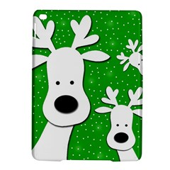 Christmas reindeer - green 2 iPad Air 2 Hardshell Cases