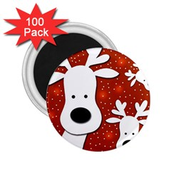 Christmas reindeer - red 2 2.25  Magnets (100 pack)