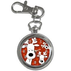 Christmas reindeer - red 2 Key Chain Watches