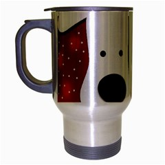 Christmas reindeer - red 2 Travel Mug (Silver Gray)