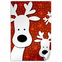 Christmas reindeer - red 2 Canvas 20  x 30