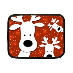 Christmas reindeer - red 2 Netbook Case (Small)