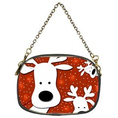 Christmas reindeer - red 2 Chain Purses (One Side)