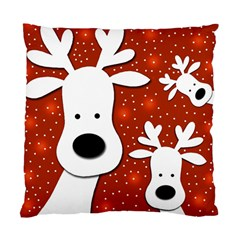 Christmas reindeer - red 2 Standard Cushion Case (One Side)