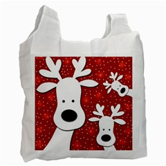 Christmas reindeer - red 2 Recycle Bag (Two Side)