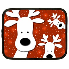 Christmas reindeer - red 2 Netbook Case (XXL)