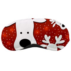 Christmas reindeer - red 2 Sleeping Masks