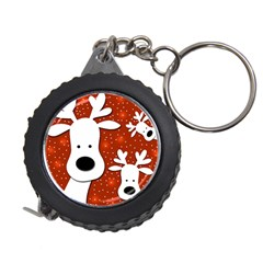Christmas reindeer - red 2 Measuring Tapes