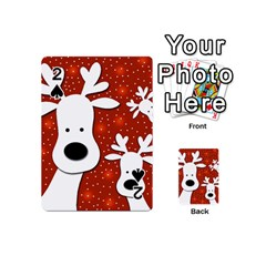 Christmas reindeer - red 2 Playing Cards 54 (Mini)