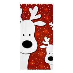 Christmas reindeer - red 2 Shower Curtain 36  x 72  (Stall)