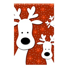 Christmas reindeer - red 2 Shower Curtain 48  x 72  (Small)