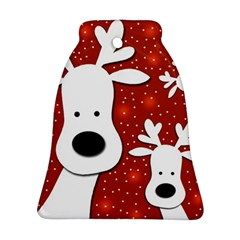 Christmas reindeer - red 2 Bell Ornament (2 Sides)