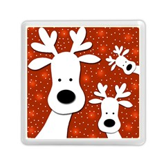 Christmas reindeer - red 2 Memory Card Reader (Square)