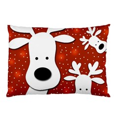 Christmas reindeer - red 2 Pillow Case (Two Sides)