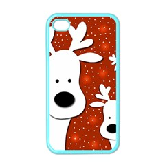 Christmas reindeer - red 2 Apple iPhone 4 Case (Color)