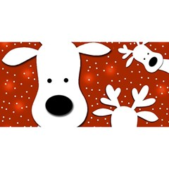 Christmas reindeer - red 2 YOU ARE INVITED 3D Greeting Card (8x4)