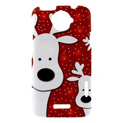 Christmas reindeer - red 2 HTC One X Hardshell Case