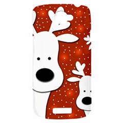 Christmas reindeer - red 2 HTC One S Hardshell Case