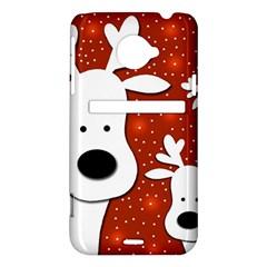 Christmas reindeer - red 2 HTC Evo 4G LTE Hardshell Case