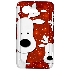 Christmas reindeer - red 2 HTC Incredible S Hardshell Case