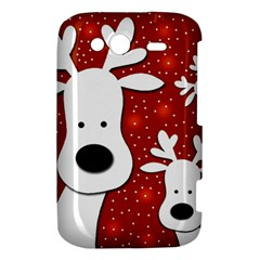Christmas reindeer - red 2 HTC Wildfire S A510e Hardshell Case