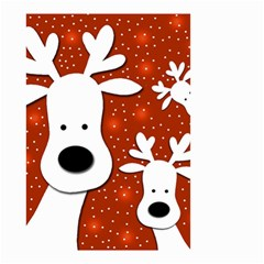 Christmas reindeer - red 2 Small Garden Flag (Two Sides)