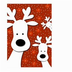 Christmas reindeer - red 2 Large Garden Flag (Two Sides)