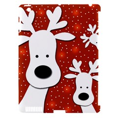 Christmas reindeer - red 2 Apple iPad 3/4 Hardshell Case (Compatible with Smart Cover)