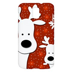 Christmas reindeer - red 2 Samsung Galaxy S II Skyrocket Hardshell Case
