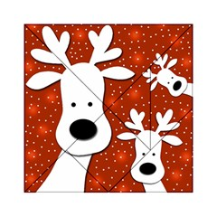 Christmas reindeer - red 2 Acrylic Tangram Puzzle (6  x 6 )