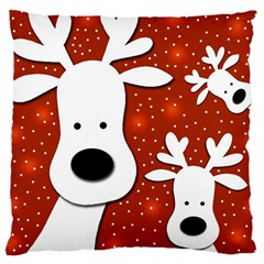 Christmas reindeer - red 2 Large Cushion Case (One Side)